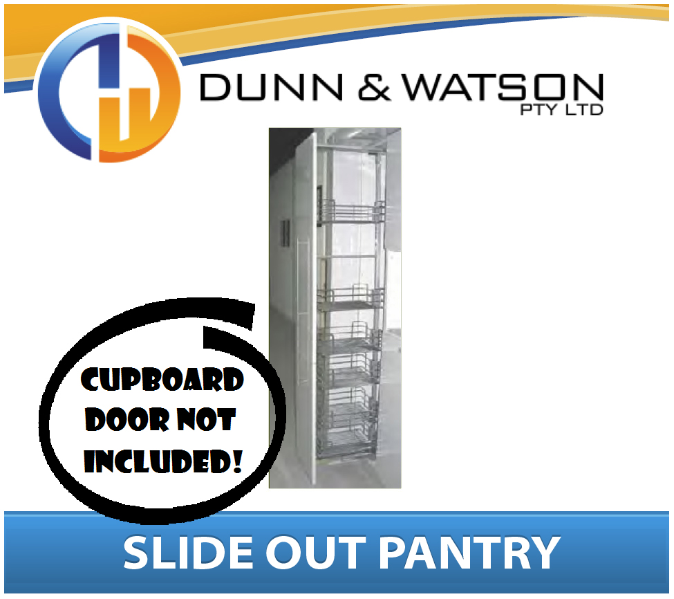 Pull slide out pantry unit 300mm wide 4 basket adj height for 300mm tall kitchen unit