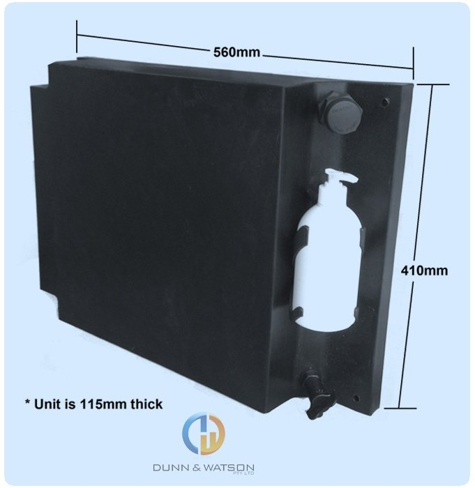 Vehicle Water Tank With Soap Dispenser 20l Side Board