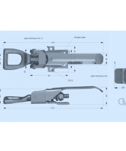 Heavy Duty Over Center Fasteners Bolt On3