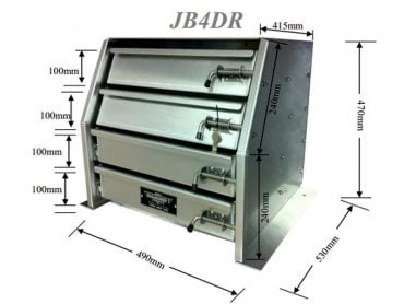 aluminium toolboxes Drawer Unit For Gull Wing Toolboxes2