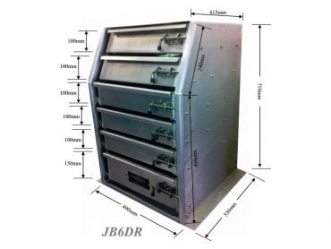 aluminium toolboxes Drawer Unit For Gull Wing Toolboxes4