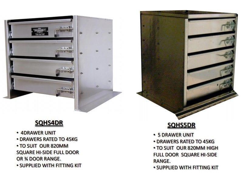 Drawer Unit For Square High Side Toolboxes - Industrial hardware, Camper Trailer, Caravan ...
