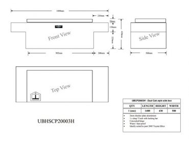 aluminium toolboxesStandard Dual Cab Toolbox3