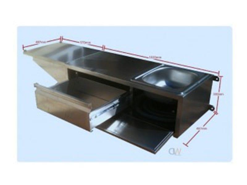 Tailgate mounting camper trailer kitchen l h single for Camper trailer kitchen designs