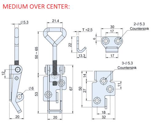 MEDIUM OVER CENTER CAD