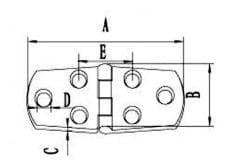 316 Stainless Steel Boat Hinge 4