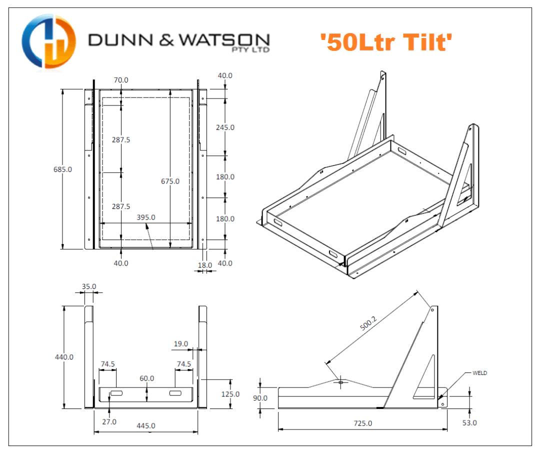50Ltr Tilt CAD
