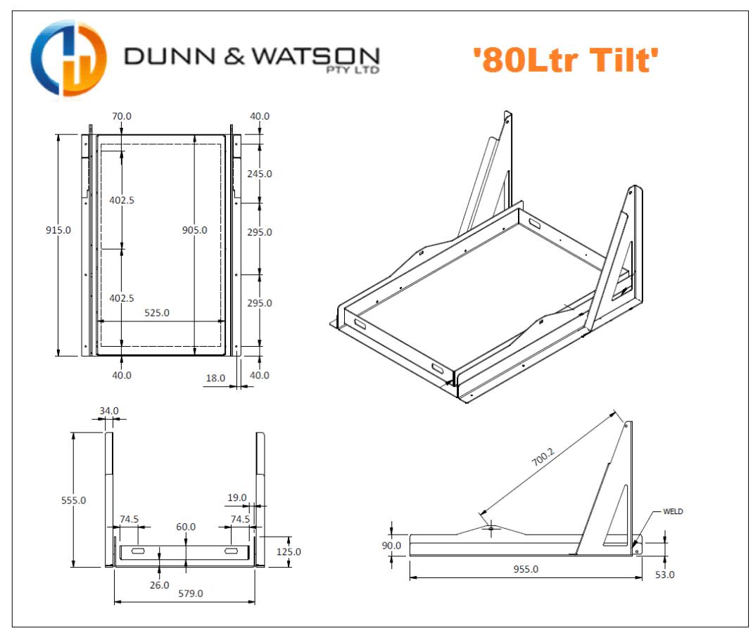 80Ltr Tilt CAD