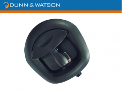 dunn and watson button black whale tail