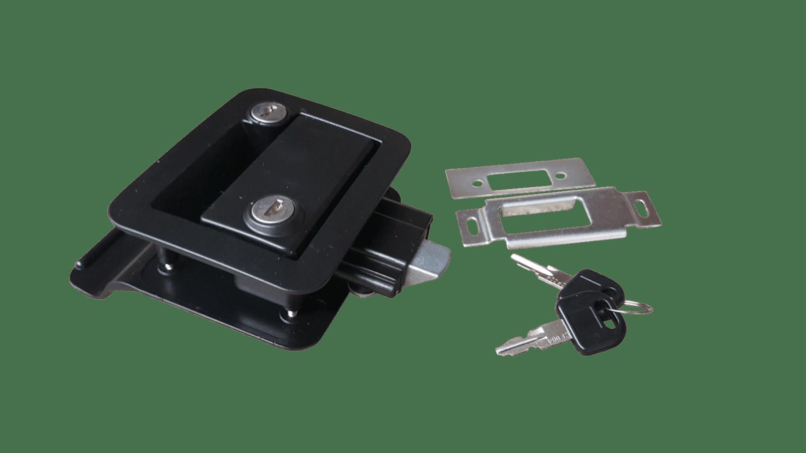 trailer door lock internal external locking. Black Bedroom Furniture Sets. Home Design Ideas