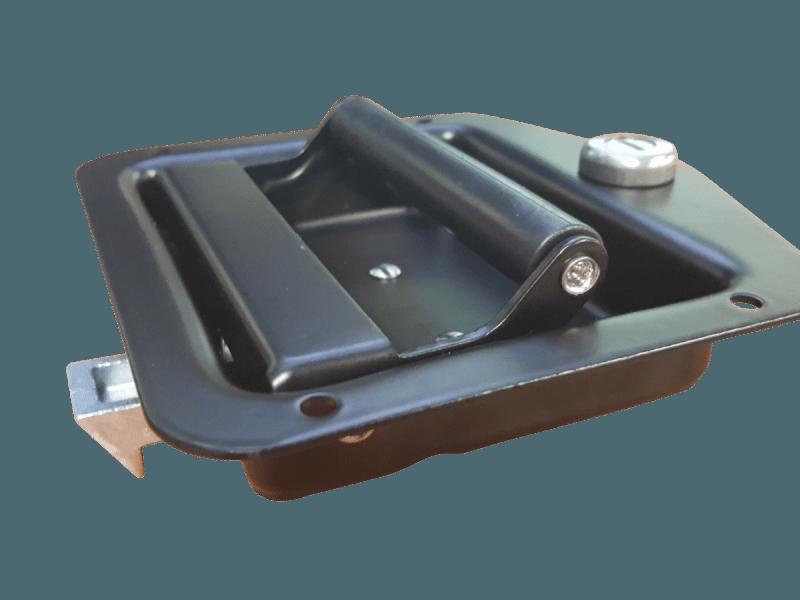 Black Cargo Drawer Lock Handle Industrial Hardware