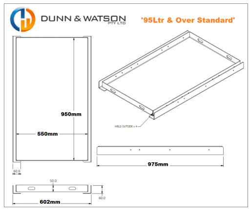 CFX95 FRIDGE SLIDE DIMENSIONS