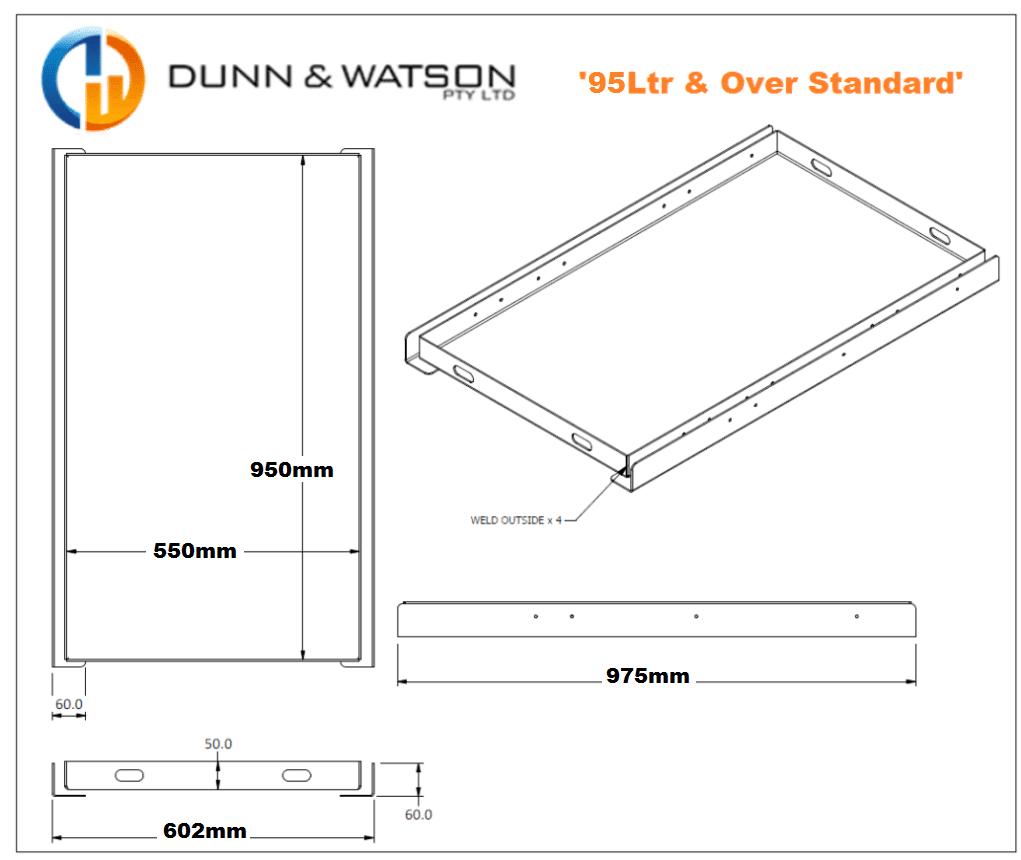 Dunn & Watson - 4wd Fridge Slides - 95LTR & Over