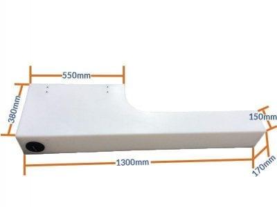 48l wheel arch water tank dimensions