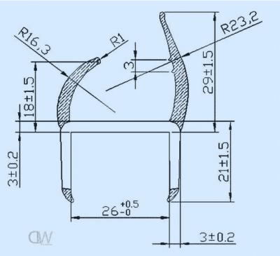 26mm PVC H Seal