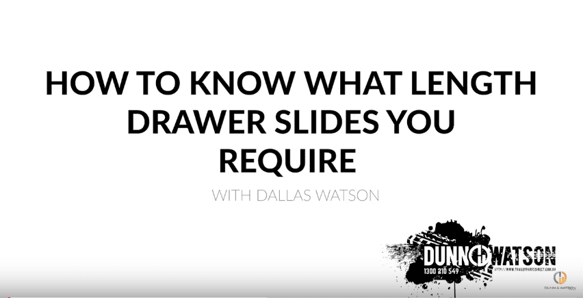 How to know what length drawer slides you require