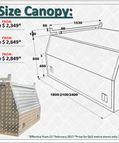 canopy sizes
