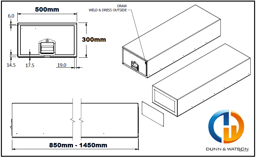 eco series cargo drawer dimensions