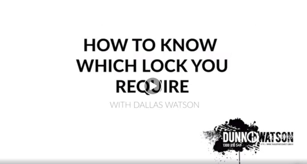 how to know what locks you require