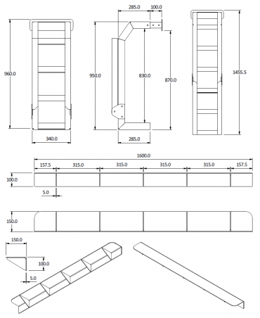 mod series ladder dimensions
