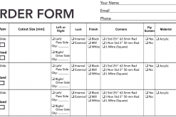 custom window order form