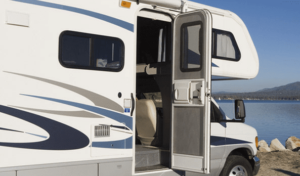 Caravan & RV Door with Fly Screen - Industrial hardware