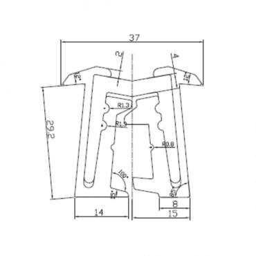 aluminium hinge size