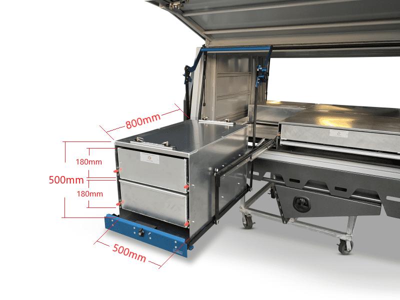 drop kitchen dimensions