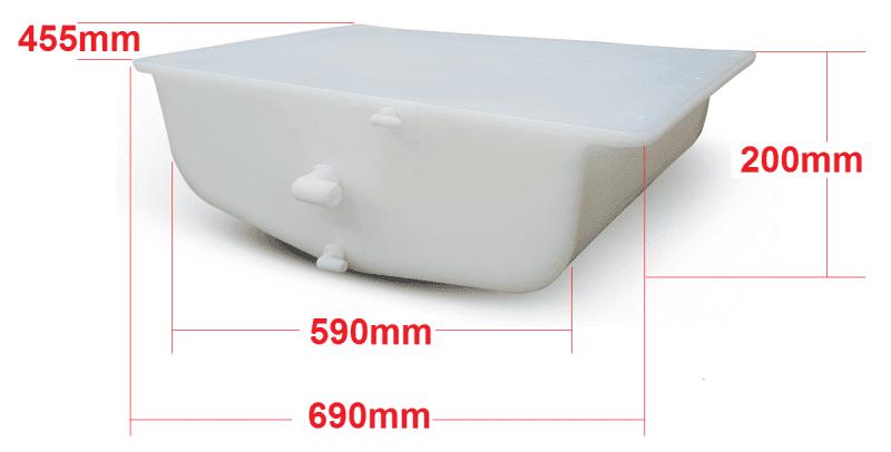 tourer tray tank dimensions