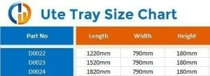 ute drawer size chart 2