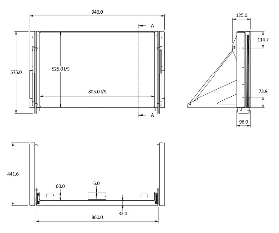 sideways 60 tilt size