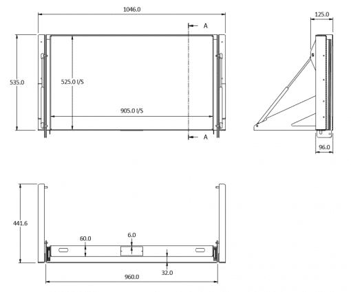 sideways 80 tilt size