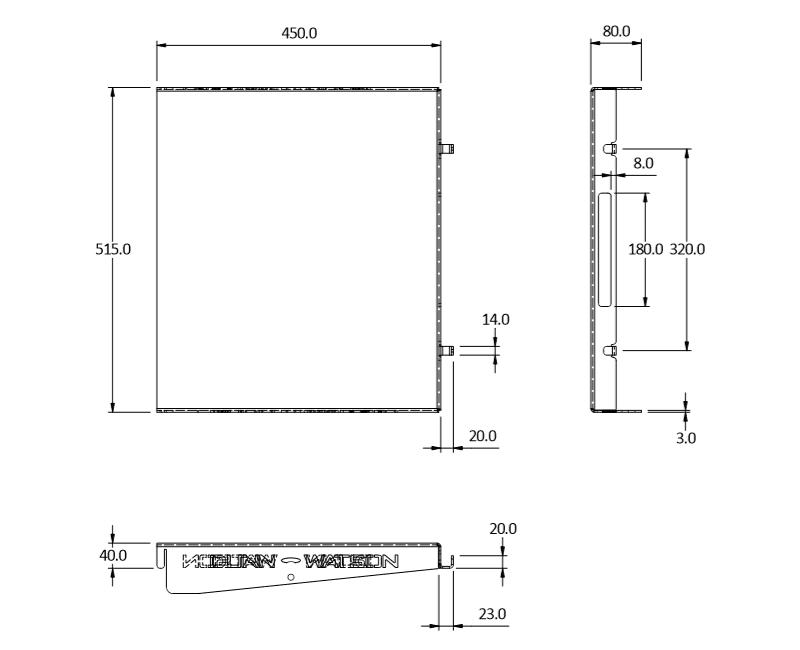 standard fridge slide bench 60 size