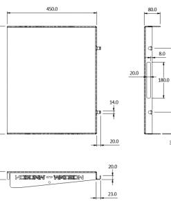 standard fridge slide bench 95 size