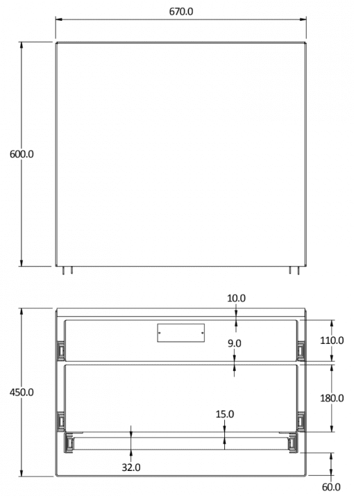 small double canopy drawer size