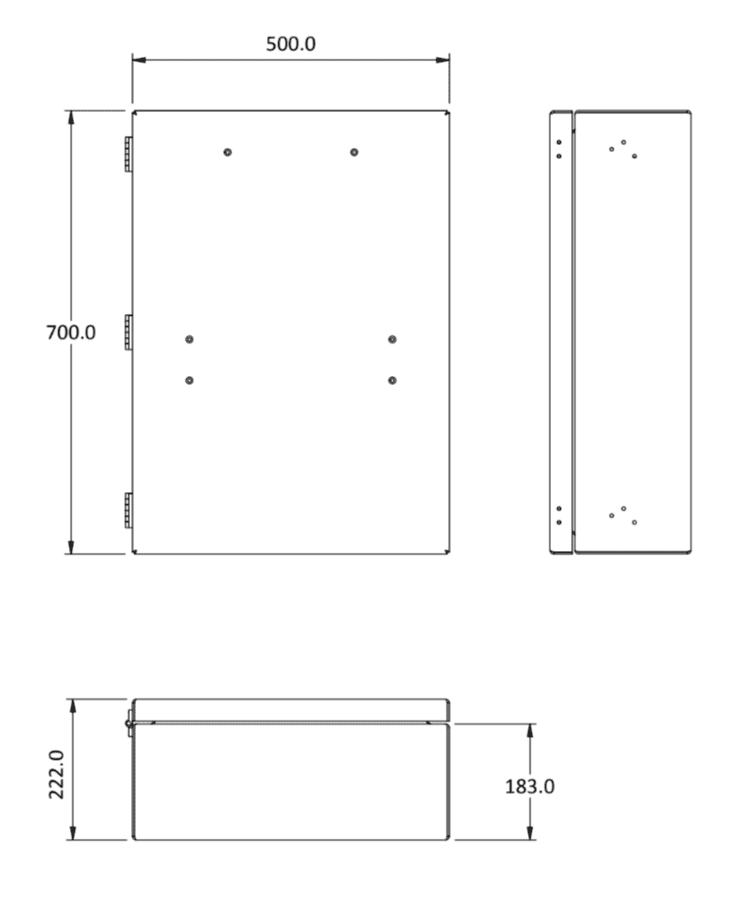 shower box size
