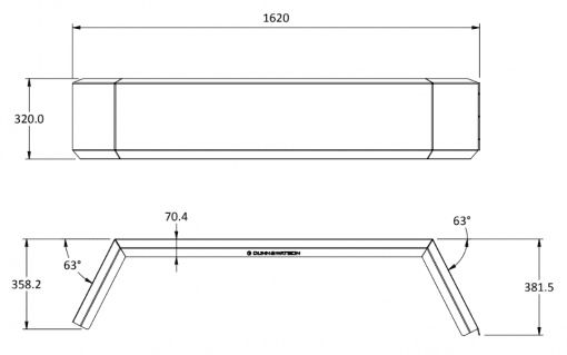 tandem axle arch size 1620
