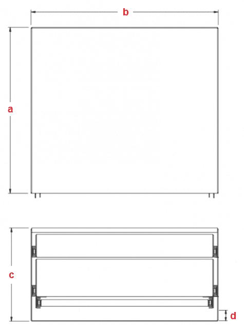 Custom DOUBLE ECO Drawer BENCH
