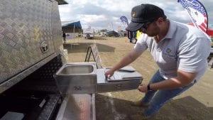 Camper trailer kitchens