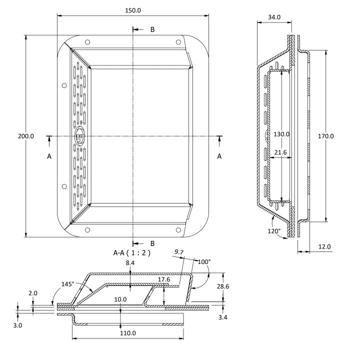 aluminium pressure vent size