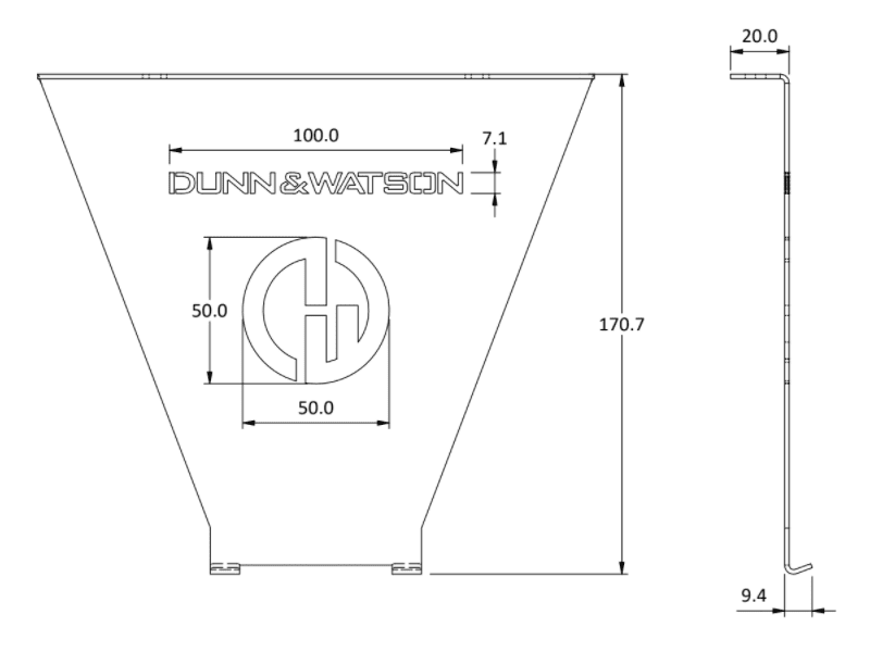 oven bracket size