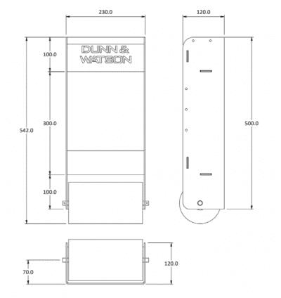 paper towel cabinet size