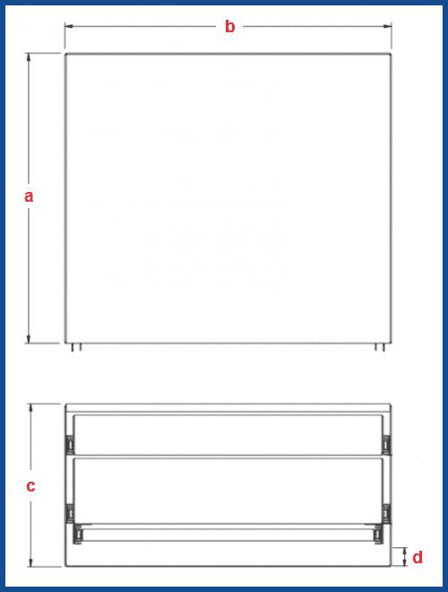 Custom DOUBLE ECO Drawer BENCH new