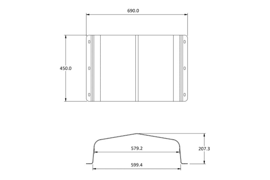 tank bash plate size 40