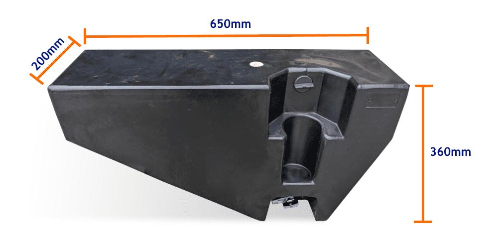 20l tray tank size